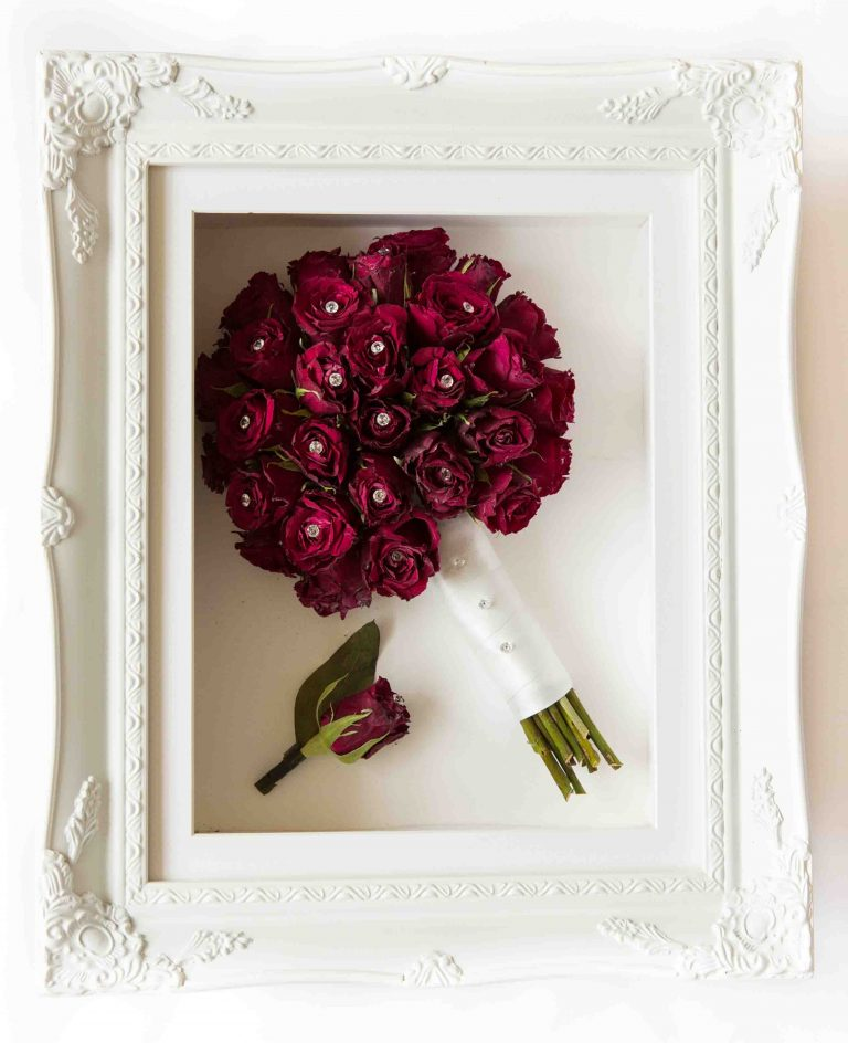 Wedding Bouquet Framed Preserved 1