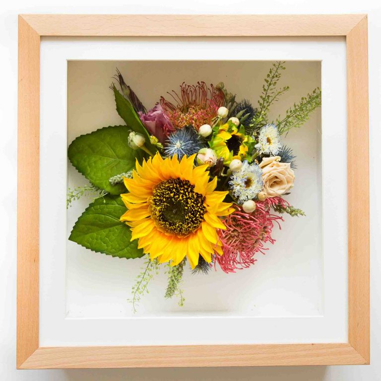 Wedding Bouquet Framed Preserved 2