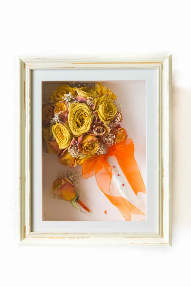 wedding flower preservation orange
