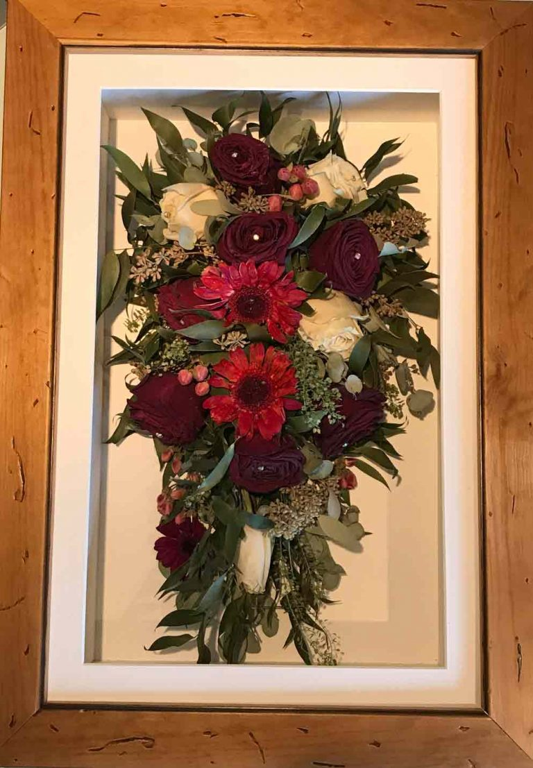 ant frame mixed Trinity Flowers Wedding Bouquet Preservation